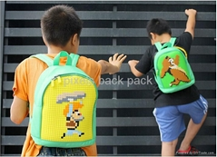 2017 hot sale panel pixels kid love back pack, DIY backpack