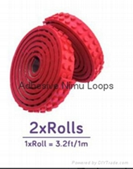 Adhesive Nimu Loops/Silicone Toy Brick Tape/Lepin Building Block kids toy
