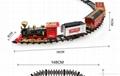 仿真高端智能冒煙古典軌道火車
