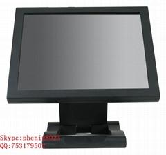 19 inch desktop waterproof  anti-glarec SAW ELO  touch monitor