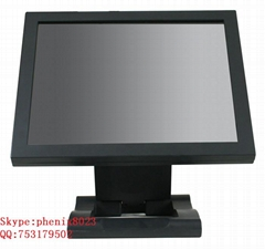 17 inch desktop high resolution Aluminum frame SAW  touch monitor