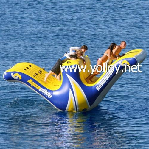 inflatable water totter slide floating climbing 1