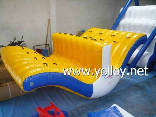 inflatable water totter slide floating climbing 2