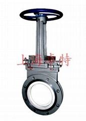 PZ73TC手動陶瓷刀閘閥 耐磨 選礦用