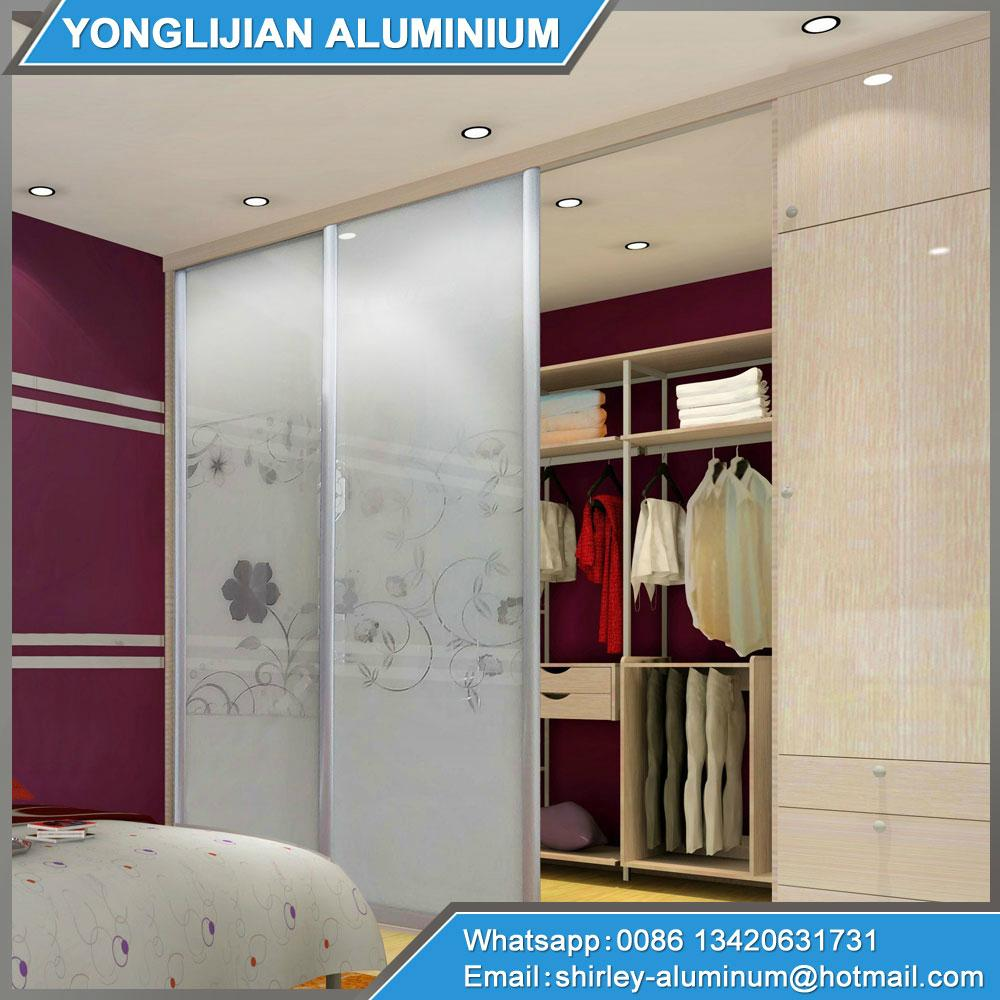 Aluminum Profile For Wardrobe Sliding Door Ylj Diy005