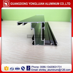 Anodized bronze aluminum extrusion profiles for window and door