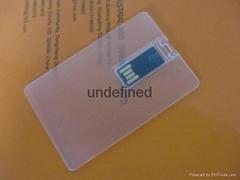 Transparent Business Card USB Flash Drive