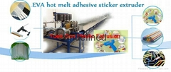 EVA hot melt adhesive sticker Extrusion Product Line