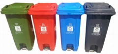 遵化學校遷安小區240升塑料垃圾桶廠家直銷