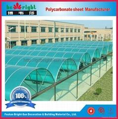 聚碳酸酯陽光板用於屋面採光頂棚