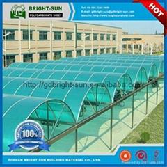 聚碳酸酯阳光板用于屋面采光顶棚