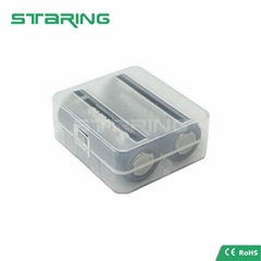 Clear Plastic battery storage box 26650 battery case