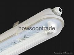 全PC塑料三防燈支架帶電子鎮流器1X36W