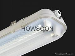 高透光帶飛利浦電子鎮流器三防燈 2X36W