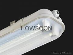 1.5米雙管防水燈支架配高效率電子鎮流器 2X58W