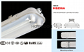 1.5米雙管防水燈支架配高效率電子鎮流器 2X58W 2