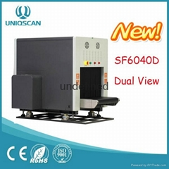 Airport Bomb scanner X ray baggage scanner SF6040 DUAL view