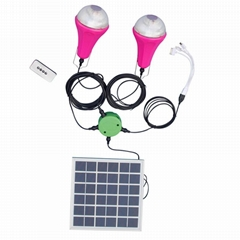 15W solar panel battery portable solar home light led