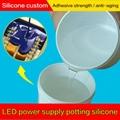 高透明粘接力强 抗老化抗紫外LED电源灌封硅凝胶 1