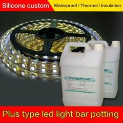 高透明粘接力强 抗老化抗紫外LED硅树脂灯条硅凝胶
