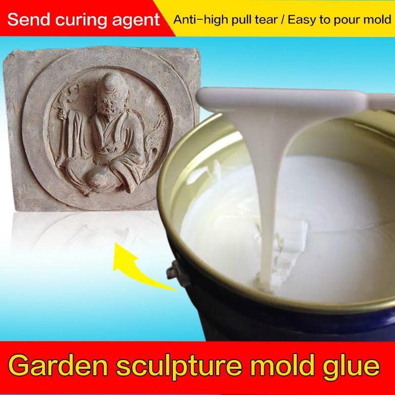 砂岩歐式花園雕塑RTV模具硅膠 液體硅膠原料批發 1