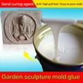 Concrete garden statues Rtv molding