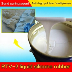 厂家直销高性价比液体硅胶模具制作专用RTV-2液体硅橡胶