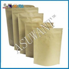 Plain Stand Up Kraft Paper Pouch Bag