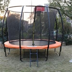 12FT New Trampoline With Basketball Hoop For Sale
