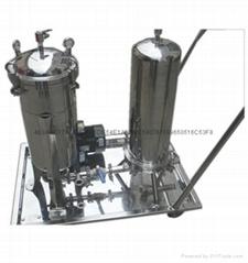 不鏽鋼小推車過濾器,塗料、油墨袋式過濾器系統