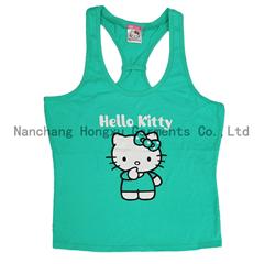 100% cotton girl's vest   hello kitty