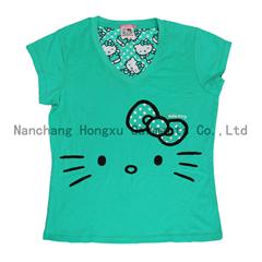 100% cotton girl's T-shirt cute