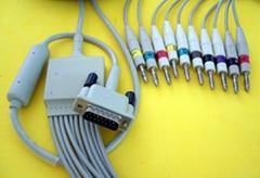 HP M3703C心电十二导联线