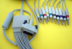 M3703C 12LD ECG CABLE AND LEADWIRE