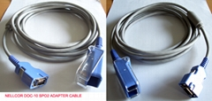 Nellcor DOC-10 spo2 adapter cable