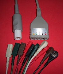 Hellige 5LD ECG Cables and LEADWIRES