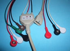 MEK Integral ECG cable with 3LD and 5LD