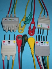 Nihon Konhden ECG cable with 3LD and 5LD