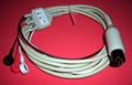 6PIN ECG cable with 3LD Integral type 1