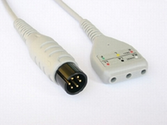 DIN-1340  DIN 3LD ECG Trunk Cable