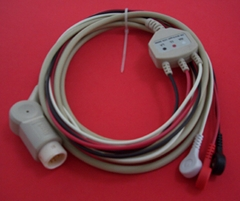 HP ECG Cable with 3LD, Integral type, AHA 12pin