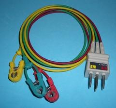 NEC 47502 ECG 3-Leadwires,clip,IEC