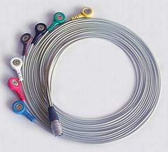 PI Holter ECG leadwires 7LD snap