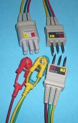 NEC 47502/47504/YCE205 ECG 3-leadwires,clip,IEC