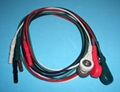 DIN color snap style 5 leadwires 1M, AHA