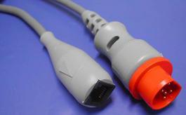 西門子10pin-雅培/尤它/BD/百特有創血壓電纜 1