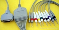 Fukuda Integral EKG Cable with leadwire