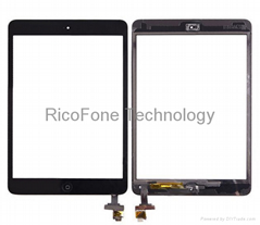 For iPad Mini Touch Screen Digitizer Assembly W/ IC White Black