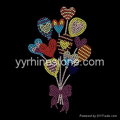 colorful balloon hotfix rhinestone transfer