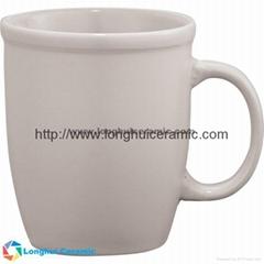 13oz Customized cozy cafe au lait ceramic mug